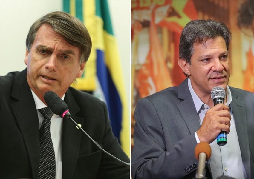 Pesquisa Vox Populi: Bolsonaro tem 44% das intenções de voto e Haddad 39%