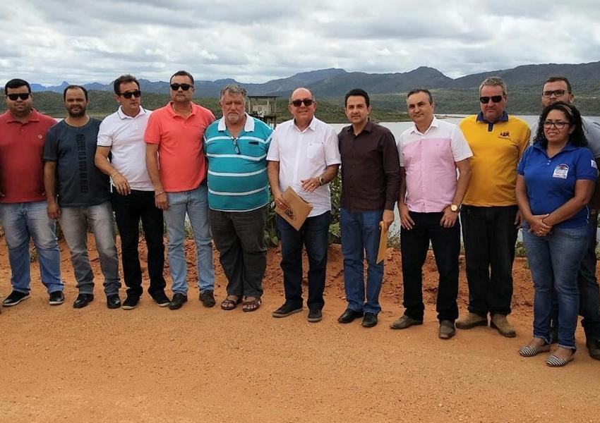 Comissão de Meio Ambiente Seca e Recursos Hídricos da ALBA realiza vistoria técnica na Barragem Luiz Vieira