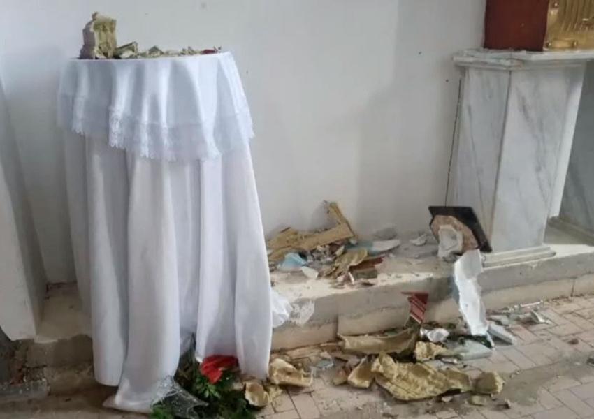 Homem é preso após destruir imagens de igreja católica no norte da Bahia