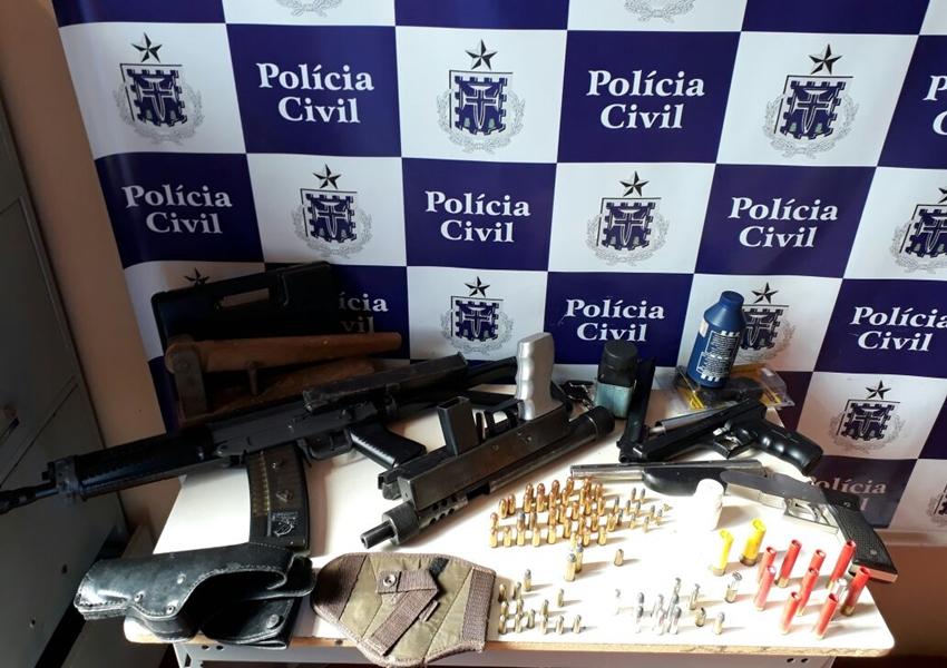 Draco apreende submetralhadora e fuzil em Caculé