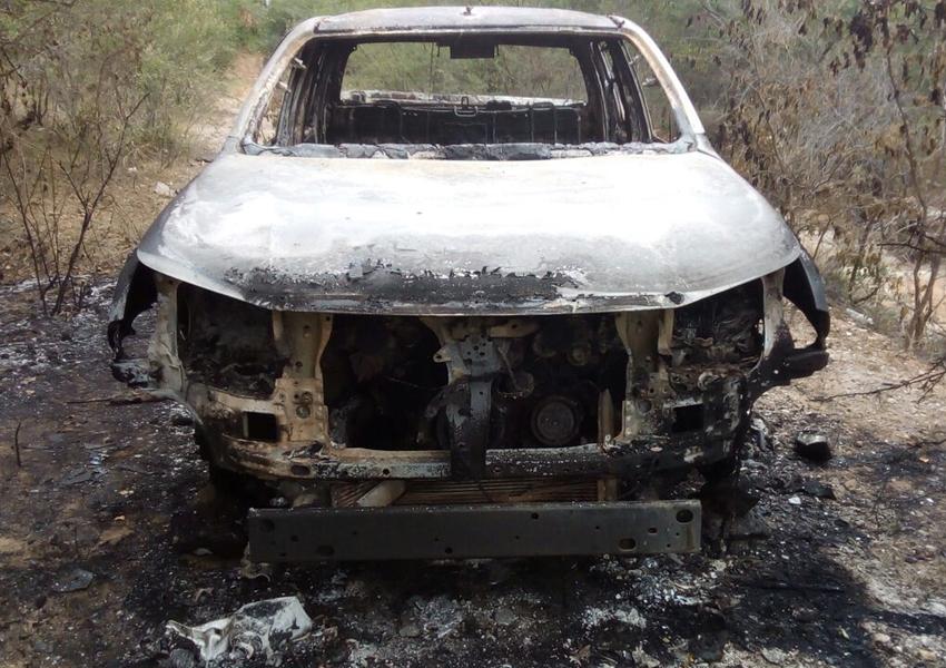 Corpo carbonizado é achado em carro de delegado que desapareceu após viagem para Vitória da Conquista