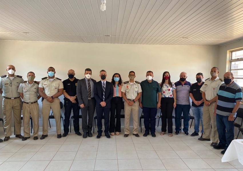 Autoridades participaram de café da manhã na sede da 46ª CIPM em Livramento