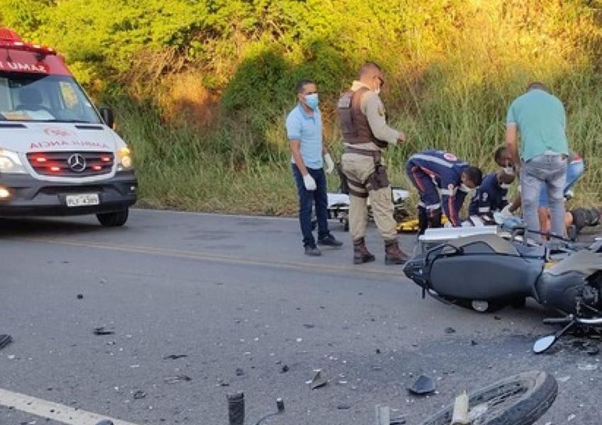 Jaguaquara: Agente da Guarda Municipal morre após colisão entre motocicletas