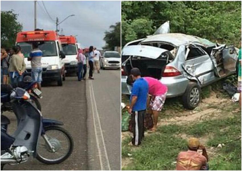 Carro cai em ribanceira e uma pessoa morre na BA-262, em Aracatu