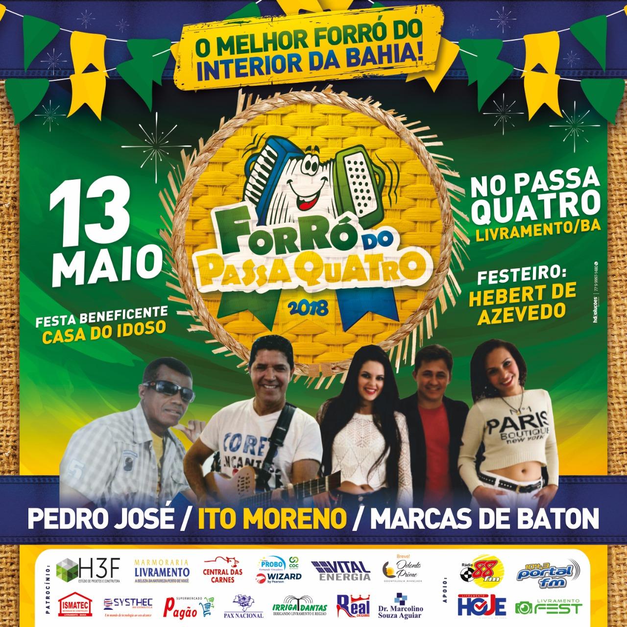Pedro José, Ito Moreno e Marcas de Batom irão animar o Dia das Mães neste domingo no Passa Quatro