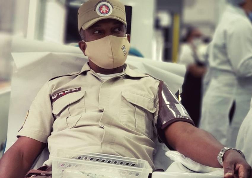 Hemoba e Polícia Militar iniciam campanha de doação de sangue em todo o estado