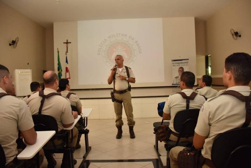 Comandante Cel. PM Anselmo Alves Brandão visita Livramento de Nossa Senhora