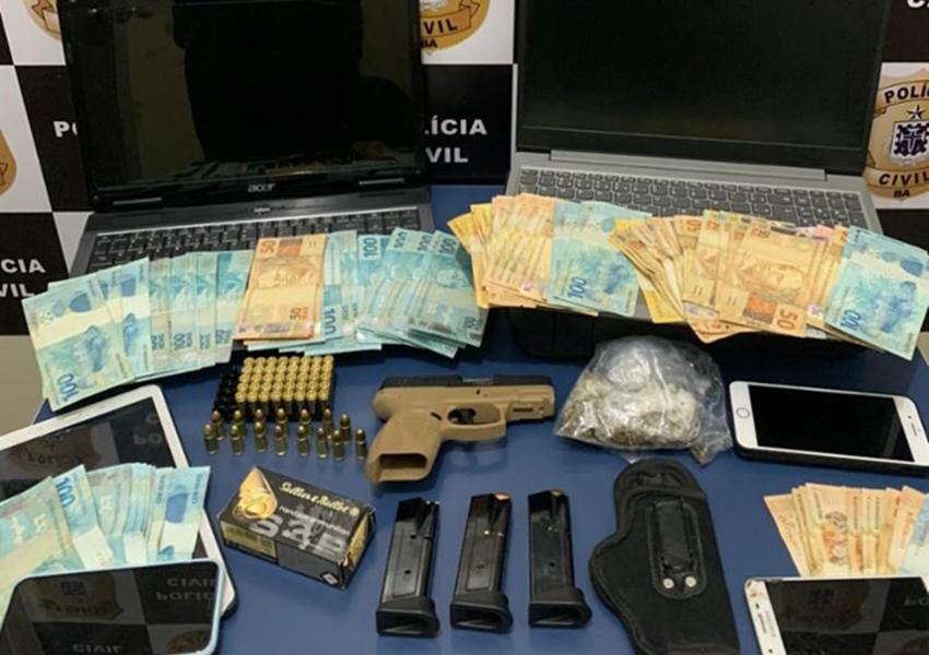 Conquista: Suspeito de tráfico, lavagem de dinheiro e fraudes bancárias é preso com R$ 8 mil