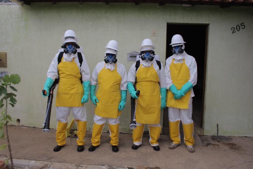 Pulverizadores Costais são utilizados no combate à dengue em Livramento