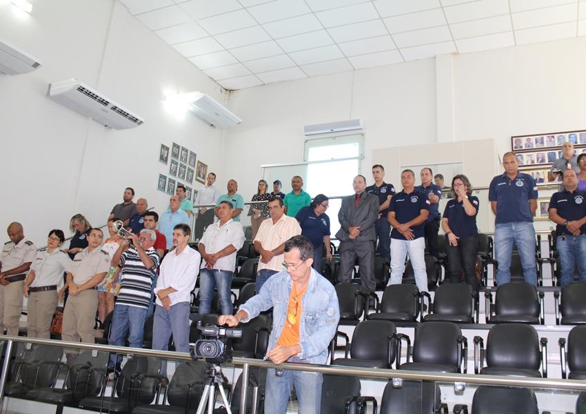 Delegado Marco Torres foi homenageado durante sessão da Câmara de Vereadores de Livramento