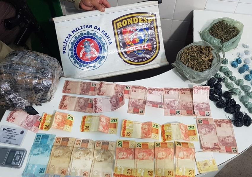 Barreiras: Rondesp Oeste captura traficantes com quantia em dinheiro