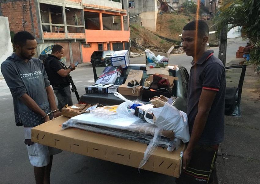 Ação policial integrada recupera carga roubada dos Correios