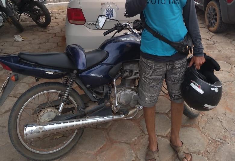 Polícia Civil localiza motocicleta furtada no centro de Livramento e prende suspeito