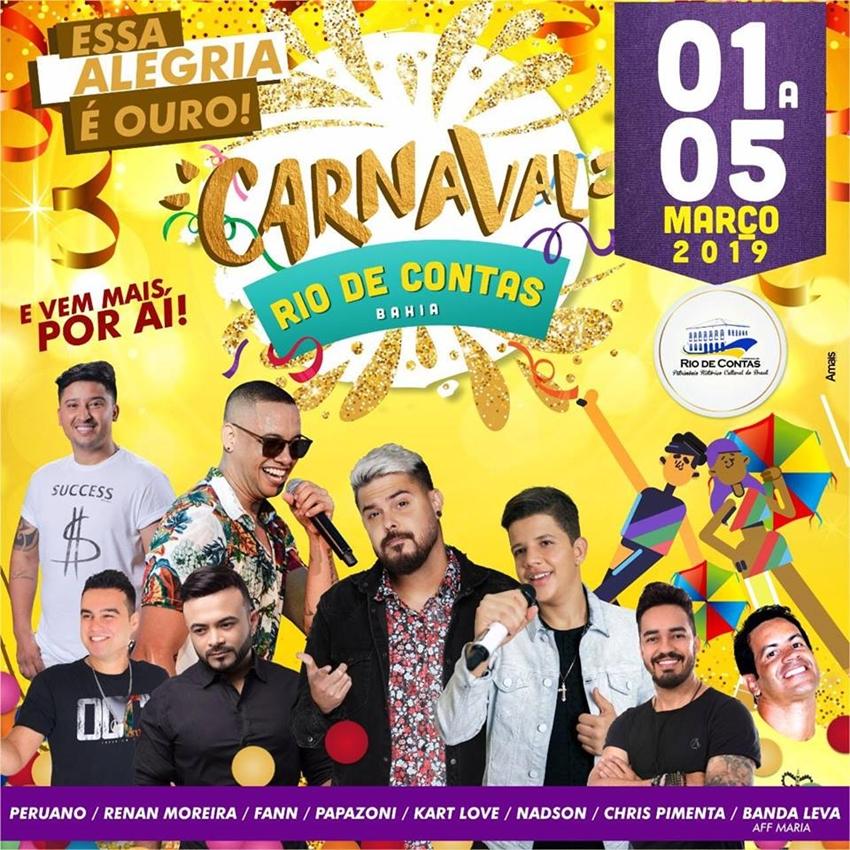 Rio de Contas: Primeiras atrações do carnaval são divulgadas e foliões ficam na bronca