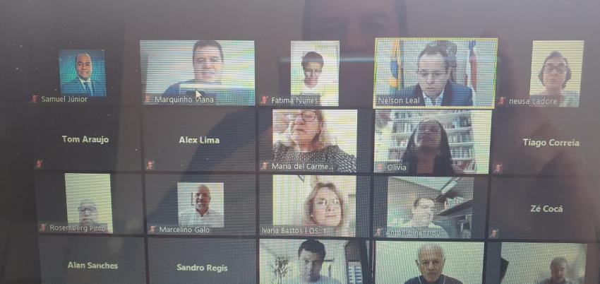 Deputado Marquinho Viana na sessão virtual que reconheceu estado de calamidade pública em 158 municípios