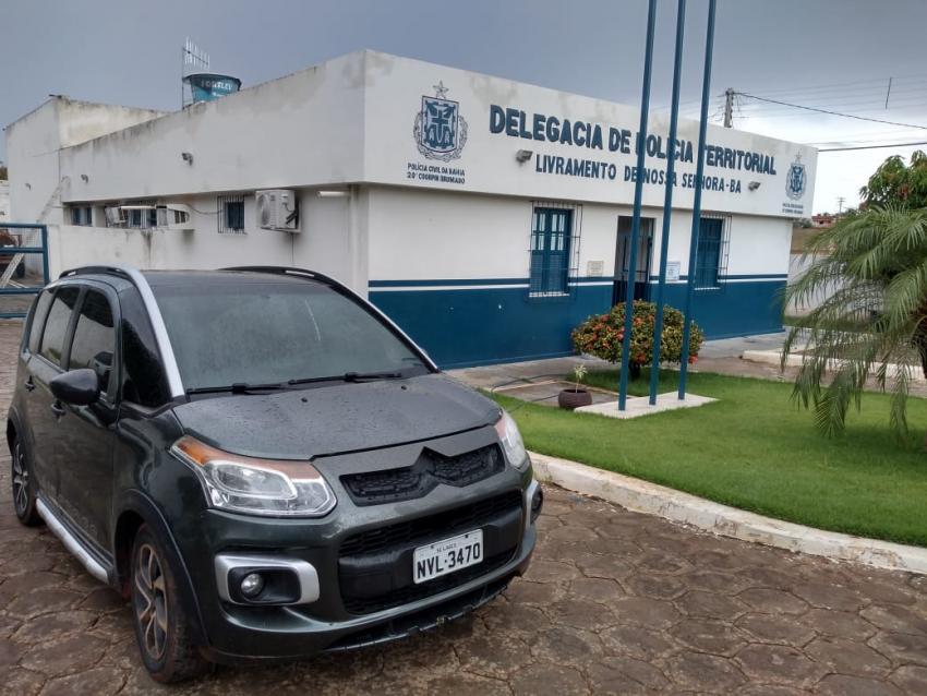 Polícia Civil apreende veículo adulterado em Livramento de Nossa Senhora