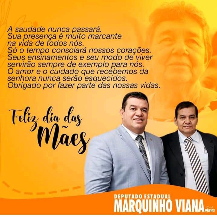 Deputado Marquinho Viana homenageia o Dia das Mães relembrando sua mãe, Dona Lúcia, ex-prefeita de Barra da Estiva