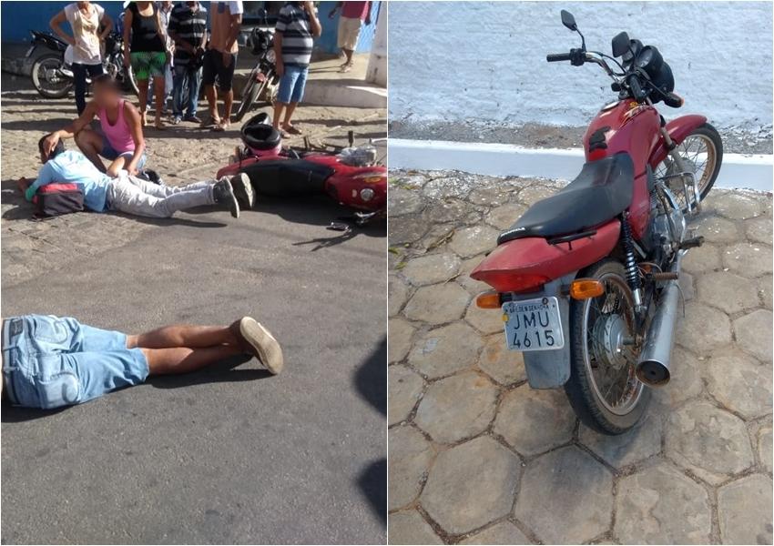 Homem é atropelado por moto ao atravessar Avenida em Livramento de Nossa Senhora