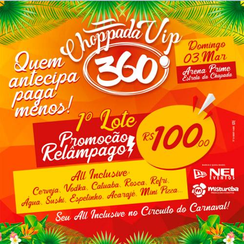 Carnaval de Rio de Contas: adquira seu ingresso da Choppada Vip 360° com preço promocional no 1º lote