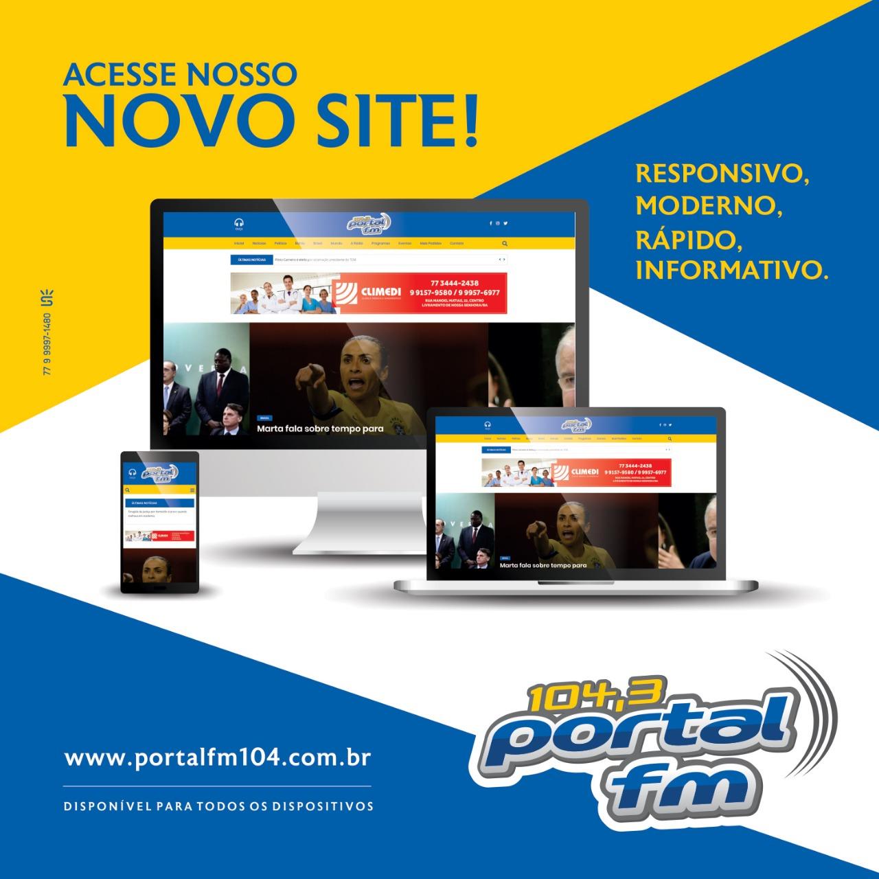 Livramento: Novo site da Rádio Portal FM já está no ar