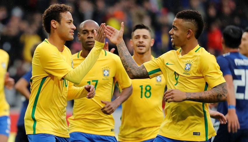Brasil vence amistoso contra Japão por 3 a 1