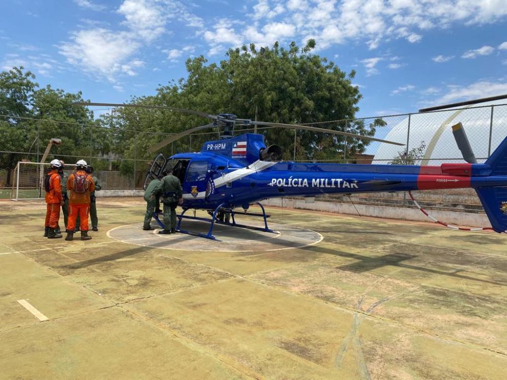 Operação de combate a incêndio florestal em Livramento, Érico Cardoso e Rio de Contas recebe apoio do GRAER