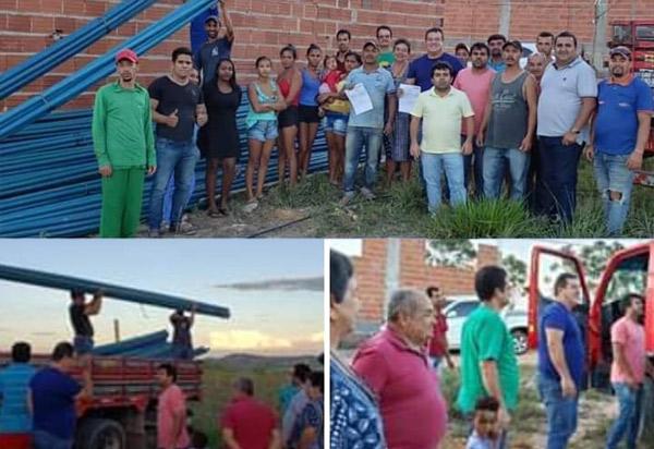 Deputado Marquinho Viana leva mais água para Barra da Estiva