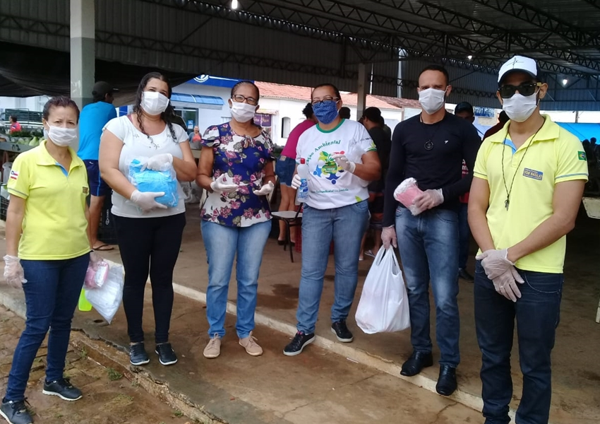 Dom Basílio: Prefeitura distribuiu gratuitamente mil máscaras no comércio nesta segunda-feira (13)