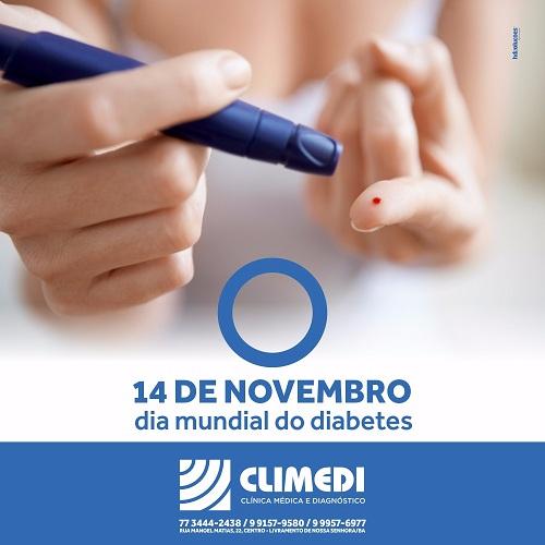 Climedi: 14 de novembro dia mundia do diabetes