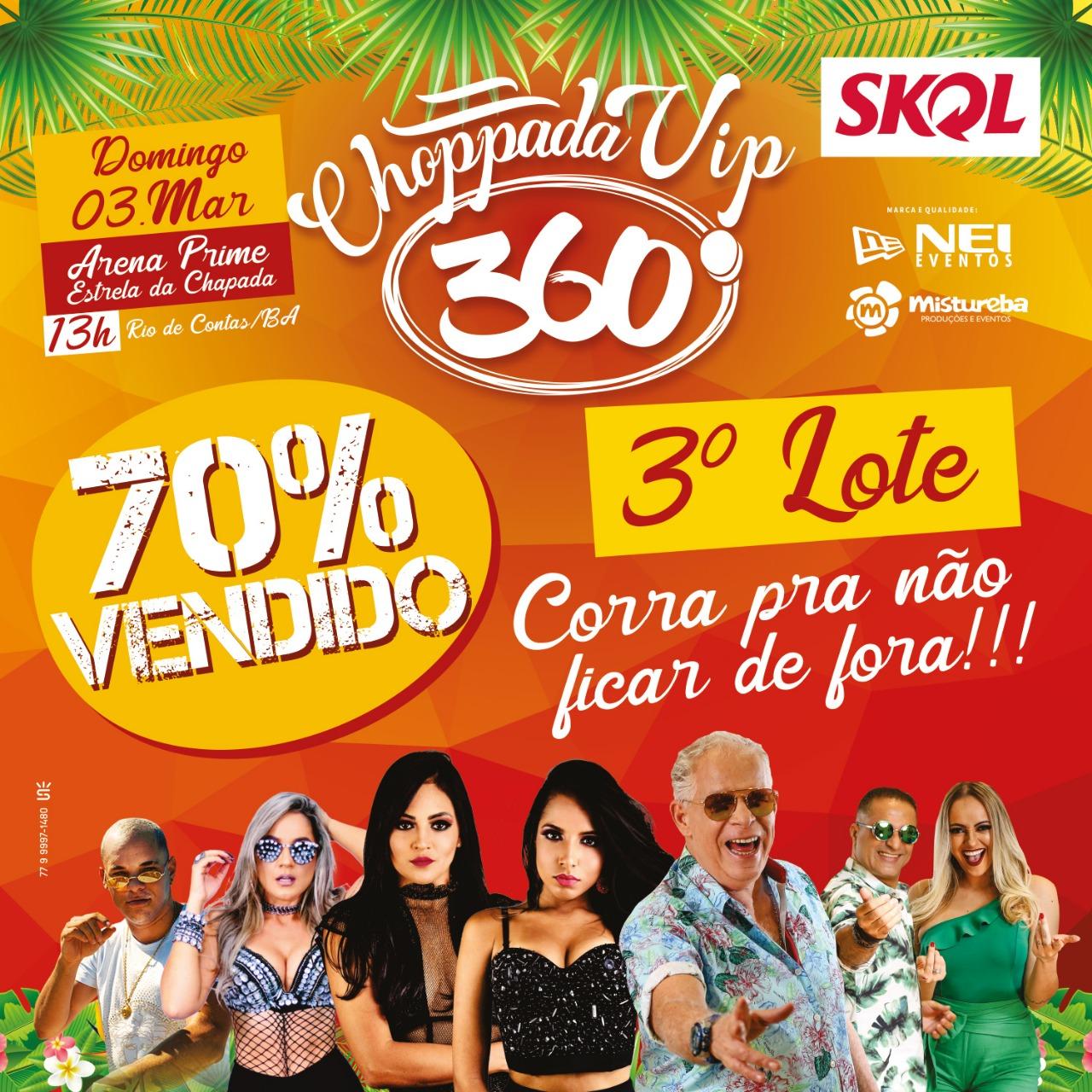 Carnaval de Rio de Contas: faltam 04 dias para a Choppada VIP 360°