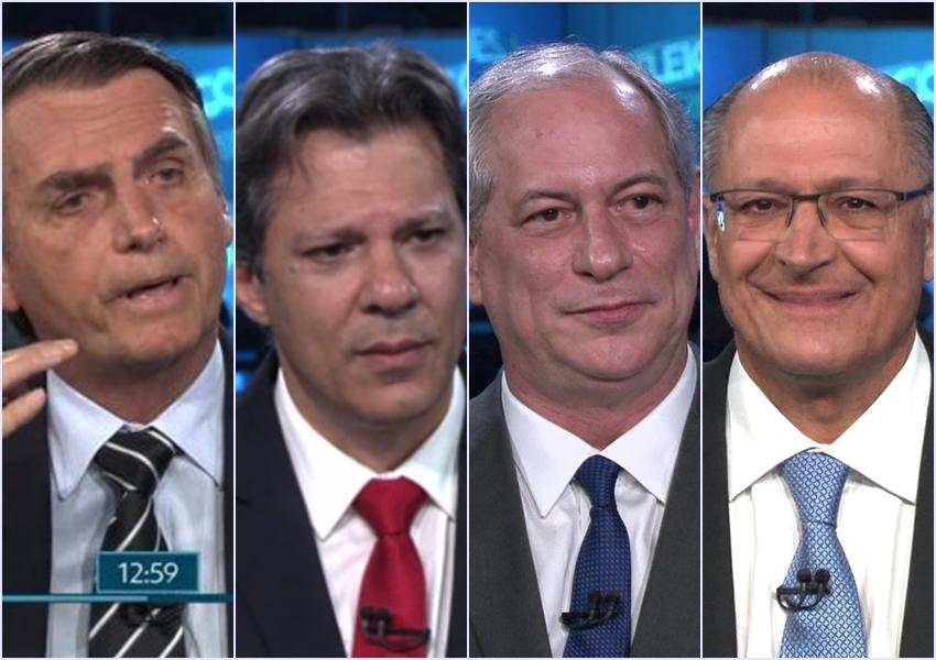 Nova pesquisa Ibope: Bolsonaro tem 27%; Haddad, 21%; Ciro, 12% e Alckmin, 8%