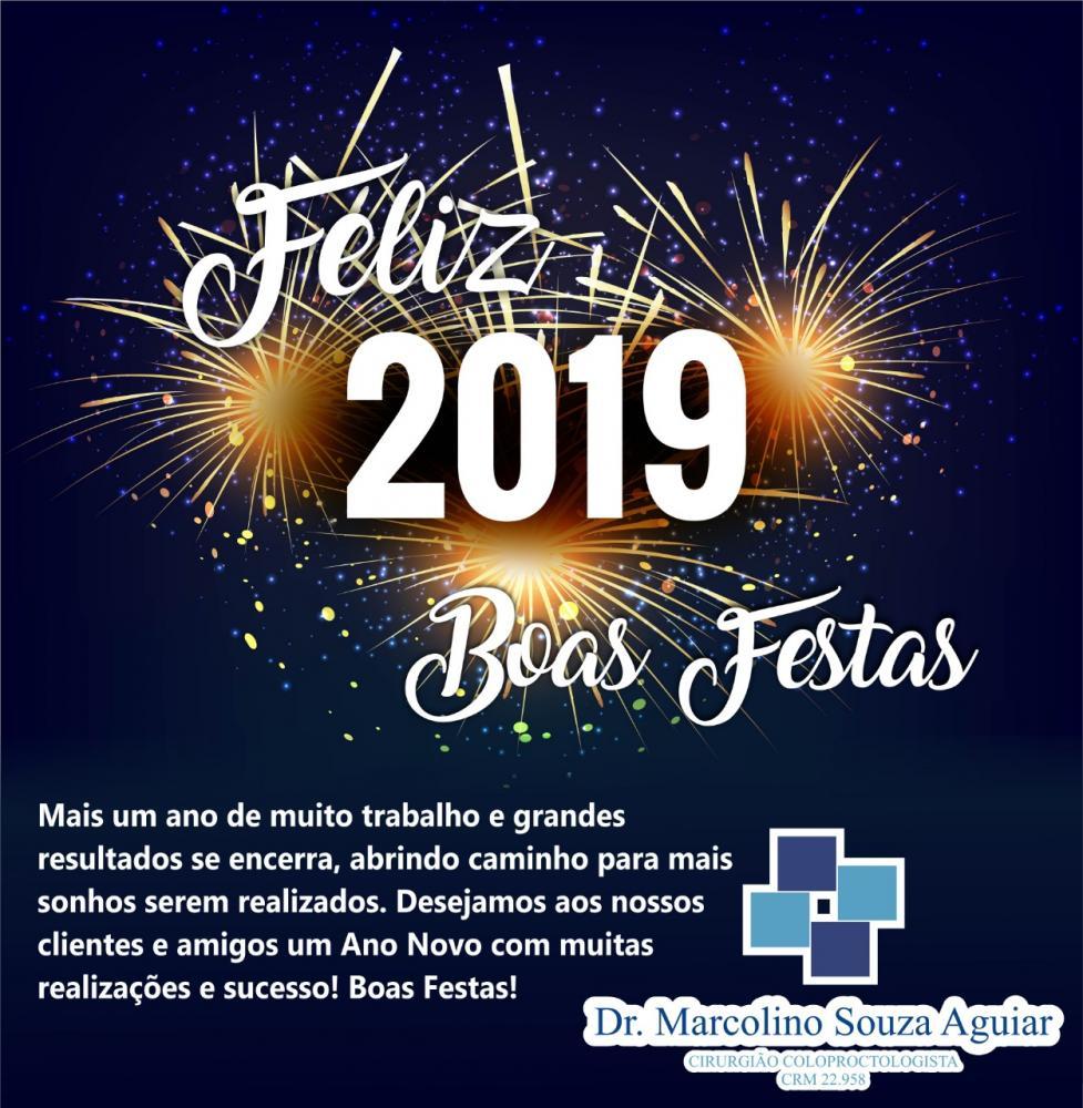 Feliz Ano Novo é o que deseja Doutor Marcolino Souza Aguiar
