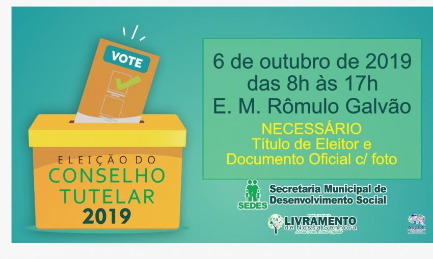 Livramento: Eleição para o Conselho Tutelar acontece neste domingo (6)