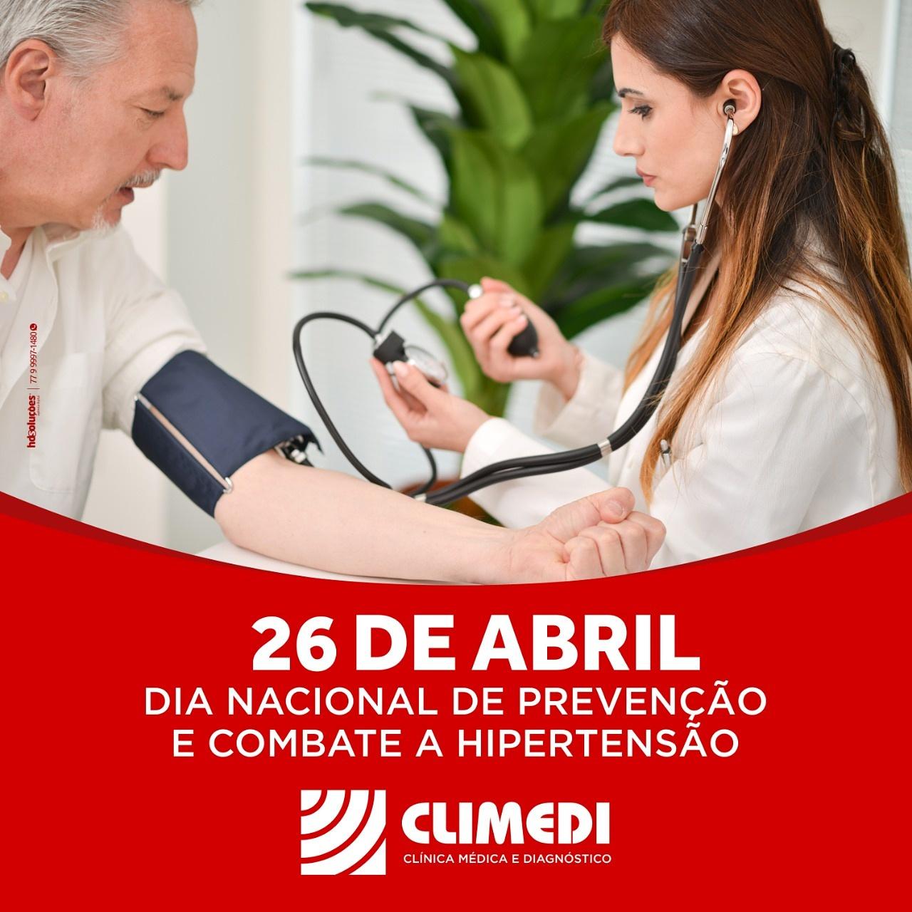 26 de abril Dia Nacional de Prevenção e Combate a Hipertensão