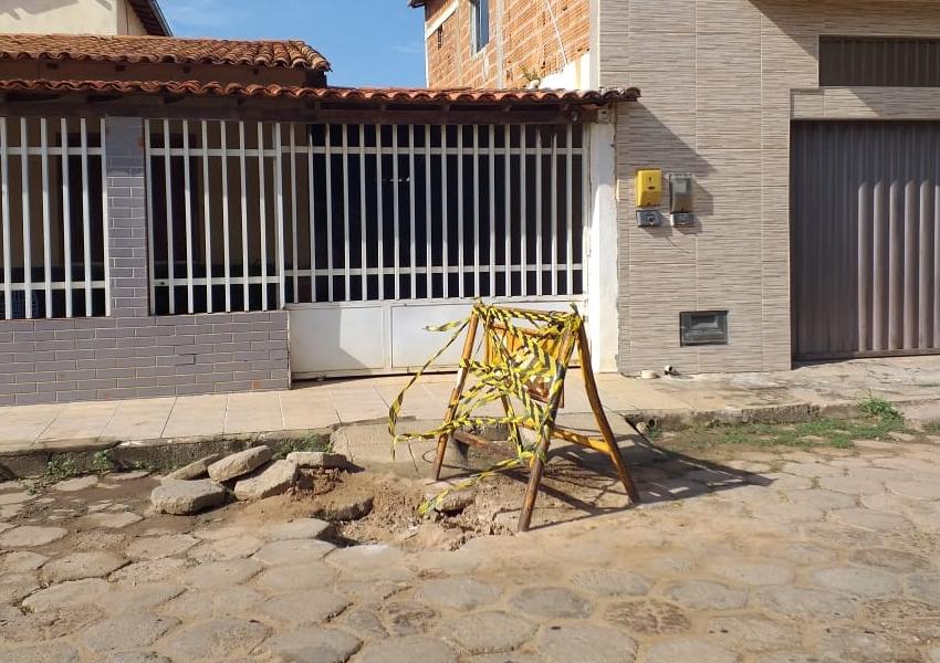 Livramento: Morador  reclama de negligência em atendimento da Embasa
