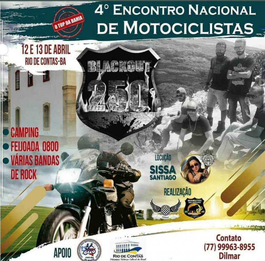 4º Encontro Nacional de Motociclistas será realizado em Rio de Contas