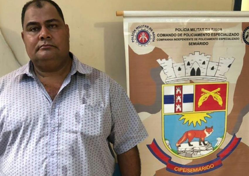 PM baiana localiza foragido do estado de Goiás na cidade de Irecê
