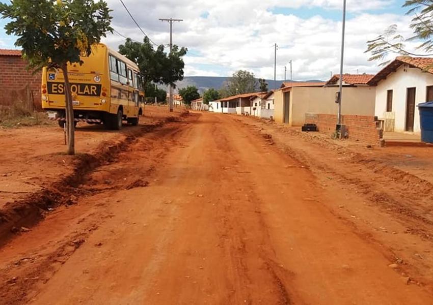 Dom Basílio: Prefeitura inicia serviços de terraplanagem para pavimentação asfáltica na comunidade da Passagem