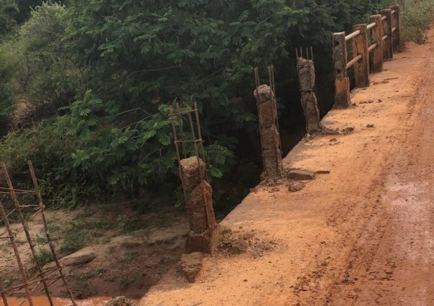 Livramento: Vereador denuncia ato da vandalismo em ponte vicinal