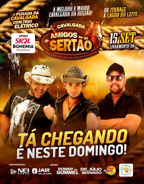 Livramento: Neste domingo (15) acontecerá grande Cavalgada Amigos do Sertão em Lagoa do Leite
