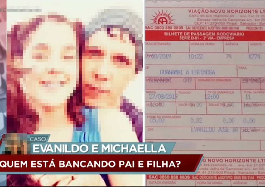 Caso Evanildo: horas após prestarem depoimento pai e filha fogem de Livramento