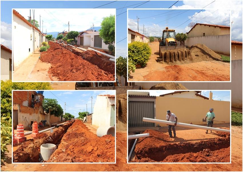 Livramento: Com recursos próprios SEINF realiza serviços de esgotamento sanitário na Rua Durval Mandú