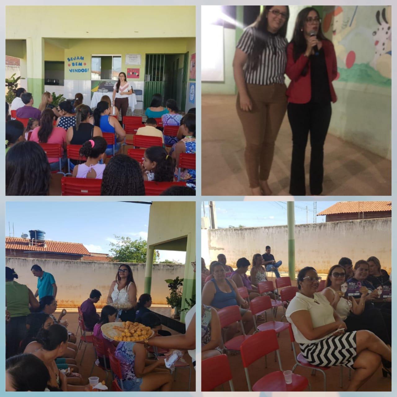Livramento: CREAS realizou palestras sobre violência doméstica conta mulher em escolas municipais