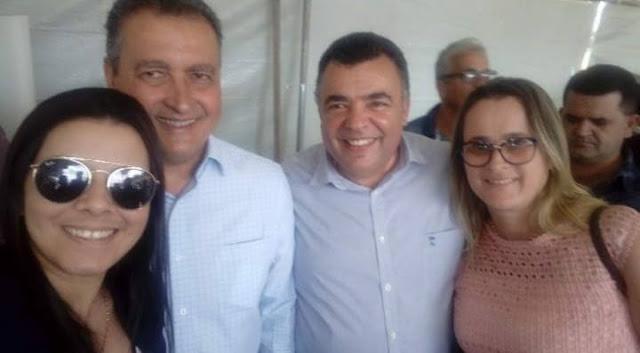Prefeito Ricardinho Ribeiro recepciona governador Rui Costa em Vitória da Conquista