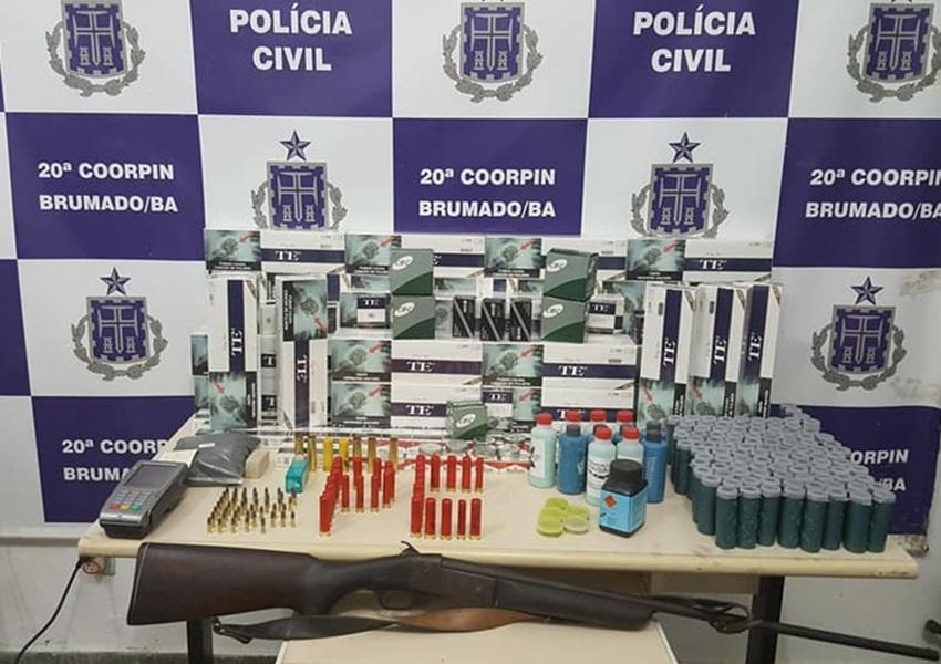 Brumado: Polícia Civil prende homem por comércio ilegal de munições e botijões de gás
