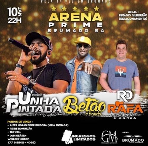 Arena Prime Brumado: Evento acontecerá nesta sexta-feira e promete ser recorde de público