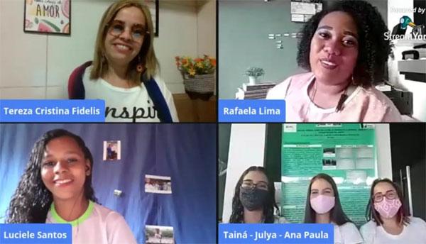 Estudantes de Livramento de Nossa Senhora dialogam sobre experiências científicas na rede estadual