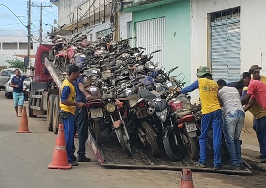 Livramento: Motos apreendidas são encaminhadas para leilão da 18° Ciretran de Brumado