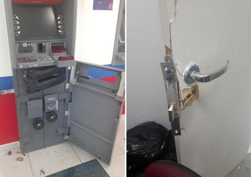 Malhada: Homem é preso e adolescente é apreendido após tentativa de arrombamento e furto de celular em agência bancária