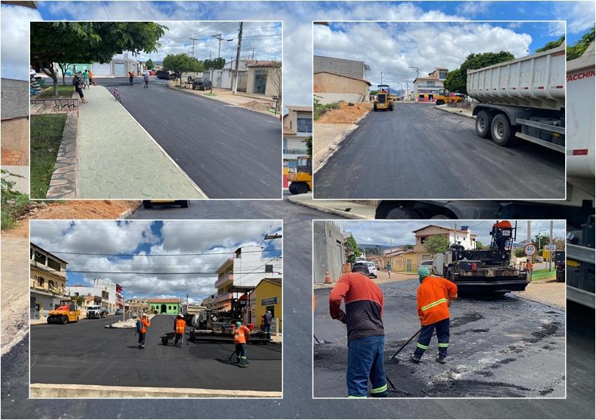 Ituaçu: Prefeitura avança nas obras de pavimentação asfáltica na sede do município